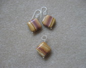 Agate earrings and pendant set