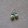Chrisoprase and freshwater pearls earrings