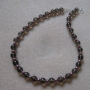 Smoky quartz and freshwater pearls necklace
