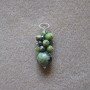 Chrisoprase and freshwater pearls pendant
