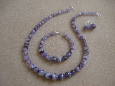 Faceted amethyst set