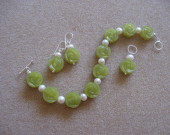 Jade and freshwater pearls set