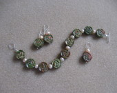 Unakite and freshwater pearls set