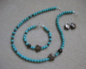 Turquoise and bronzite set