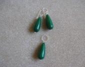 Jade earrings and pendant set