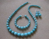 Faceted turquoise set