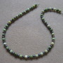 Chrysoprase and freshwater pearls necklace