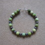 Chrysoprase and freshwater pearls bracelet