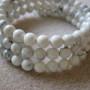 Howlite memory bracelet detail