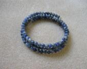 Sodalite memory bracelet