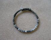 Grey jasper memory bracelet