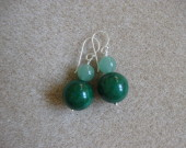 Jade and aventurine earrings