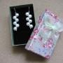 Freshwater pearls earrings in gift box
