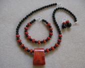 Sponge coral and onyx set