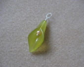 Jade and freshwater pearl pendant