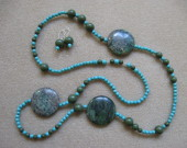 Jasper and turquoise set