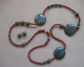 Jasper and bamboo coral set