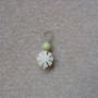 Chrysoprase and buri seed pendant