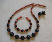 Onyx and sponge coral set