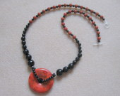 Sponge coral and onyx necklace