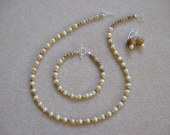 Picture jasper and freshwater pearls set