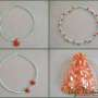 Seed beads and sponge coral necklace for girls collage