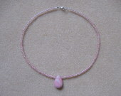Seed beeds and rhodonite necklace for girls