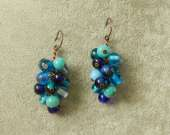 Vintage glass cluster earrings