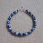 Sodalite and hematite bracelet