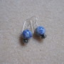 Sodalite and hematite earrings