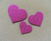 Fuchsia heart magnet set