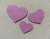 Dusty pink heart magnet set