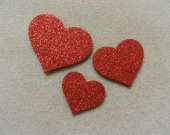Red heart magnet set