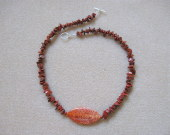 Red jasper chips and dragonskin agate necklace