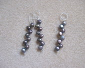 Freshwater pearls earrings and pendant set
