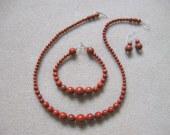 Red jasper set