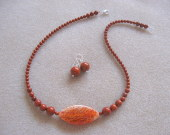 Dragonskin agate and red jasper set