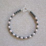 Hematite and freshwater pearls bracelet