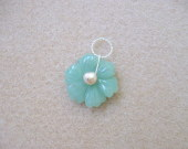 Aventurine and freshwater pearl pendant