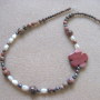 Jasper and freshwater pearls necklace