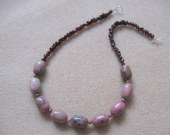 Rhodonite and garnet necklace