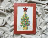 Christmas decoration - Christmas tree (red)