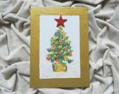 Christmas decoration - Christmas tree (golden)