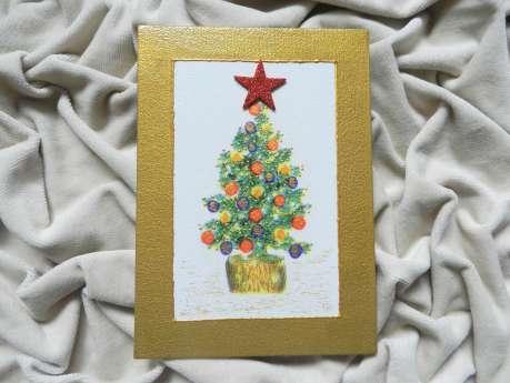 Christmas decoration - Christmas tree (golden)