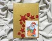 Christmas decoration - Santa Claus (golden)