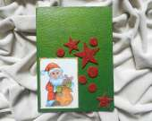 Christmas decoration - Santa Claus (green)