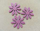 Dusty pink flower magnet set