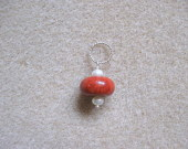 Coral and freshwater pearls pendant