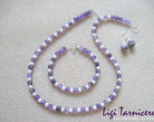 Amethyst and freshwater pearls set