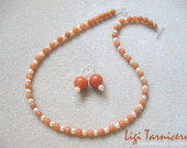 Aventurine and freshwater pearls set